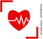 the heart and cardiogram icon. | Shutterstock .eps vector #323538410