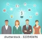 flat vector conceptual... | Shutterstock .eps vector #323540696