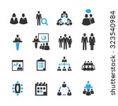 meeting and business icons... | Shutterstock .eps vector #323540984