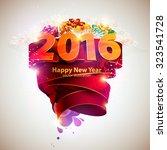 happy new year 2016 | Shutterstock .eps vector #323541728