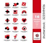 vector company logo icon...   Shutterstock .eps vector #323549456
