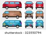 vector minivan   side   front   ... | Shutterstock .eps vector #323550794