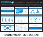 set of editable infographic... | Shutterstock .eps vector #323551328