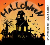 halloween poster template... | Shutterstock .eps vector #323552864