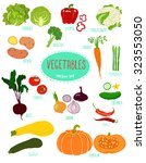 collection of colorful... | Shutterstock .eps vector #323553050