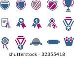 vector icons pack   blue... | Shutterstock .eps vector #32355418
