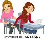 illustration of teenage girls...   Shutterstock .eps vector #323555288