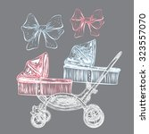 Hand Drawn Baby Carriage For...