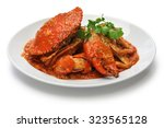 Singapore Chili Crab Isolated...