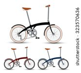 mini style bicycles set vector... | Shutterstock .eps vector #323570636