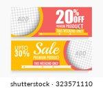creative sale website header or ...   Shutterstock .eps vector #323571110