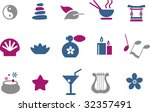 vector icons pack   blue... | Shutterstock .eps vector #32357491