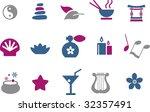 vector icons pack   blue... | Shutterstock .eps vector #32357491