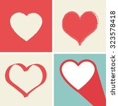 heart icons set  ideal for...   Shutterstock .eps vector #323578418