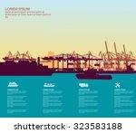 sea port | Shutterstock .eps vector #323583188