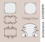 vector set  calligraphic design ... | Shutterstock .eps vector #323583890