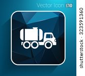 truck auto barrel icon vector... | Shutterstock .eps vector #323591360