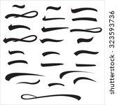set of underlines lettering... | Shutterstock .eps vector #323593736