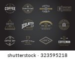 Set Of Vector Coffee Logotype...
