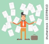 too much of papers work. | Shutterstock .eps vector #323598410