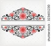 vector vintage floral ... | Shutterstock .eps vector #323601230