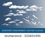 Transparent Vector Clouds Set...
