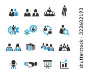 meeting and business icons... | Shutterstock .eps vector #323602193