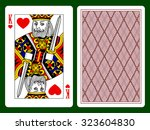Playing Card With A King Of...