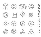 set of geometric shapes vector | Shutterstock .eps vector #323605340