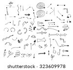hand draw arrows set. different ... | Shutterstock .eps vector #323609978