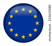 badge with flag of european... | Shutterstock .eps vector #323610080