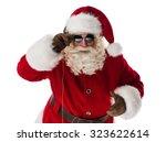 cool santa claus portrait... | Shutterstock . vector #323622614