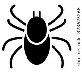 mite vector icon. style is flat ... | Shutterstock .eps vector #323626268