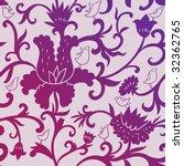 birds in flowers   seamless...   Shutterstock . vector #32362765