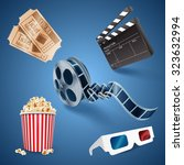icon movie | Shutterstock .eps vector #323632994