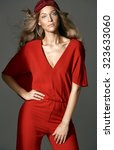 high fashion female model | Shutterstock . vector #323633060