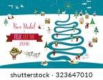 cute eskimos characters... | Shutterstock .eps vector #323647010