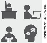 studying icons | Shutterstock .eps vector #323647106