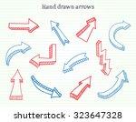 hand drawn arrows.3d arrows set.... | Shutterstock .eps vector #323647328