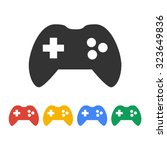 game controller icon. flat...   Shutterstock .eps vector #323649836