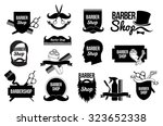 men's haircut logo.barber shop... | Shutterstock .eps vector #323652338