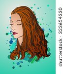 vector stylish   portrait with... | Shutterstock .eps vector #323654330