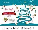 cute eskimos characters... | Shutterstock .eps vector #323656640