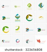set of abstract wavy elements.... | Shutterstock .eps vector #323656808
