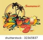 Summer Decorative Illustration