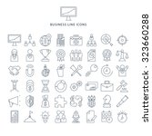 business line icons set eps 10... | Shutterstock .eps vector #323660288
