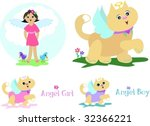 mix page of angels vector | Shutterstock .eps vector #32366221