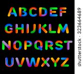 rainbow alphabet. colorful... | Shutterstock .eps vector #323664689