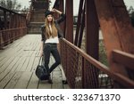 outdoor fashion lifestyle...   Shutterstock . vector #323671370