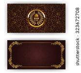 elegant template for luxury... | Shutterstock .eps vector #323672708